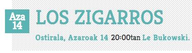 Le Bukowski concierto Los Zigarros