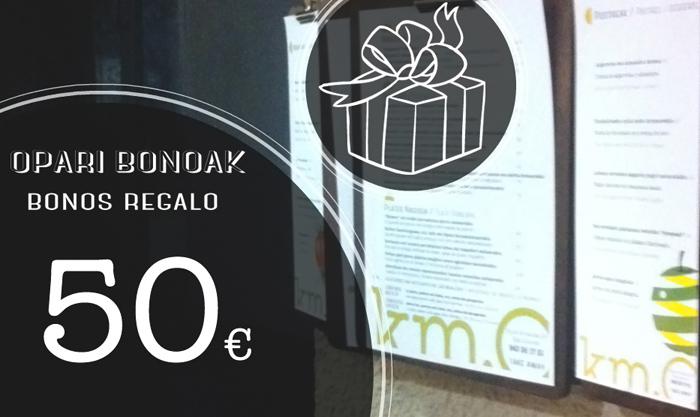 Bonos Regalo Restaurante Vegano Vegetariano Km.0 de San Sebastián Donostia