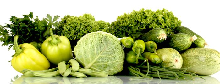 Proteínas de origen vegetal: vegetales verdes