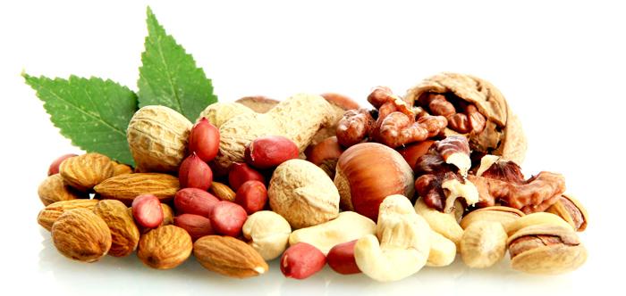Fuentes de Proteína de origen vegetal: Frutos Secos