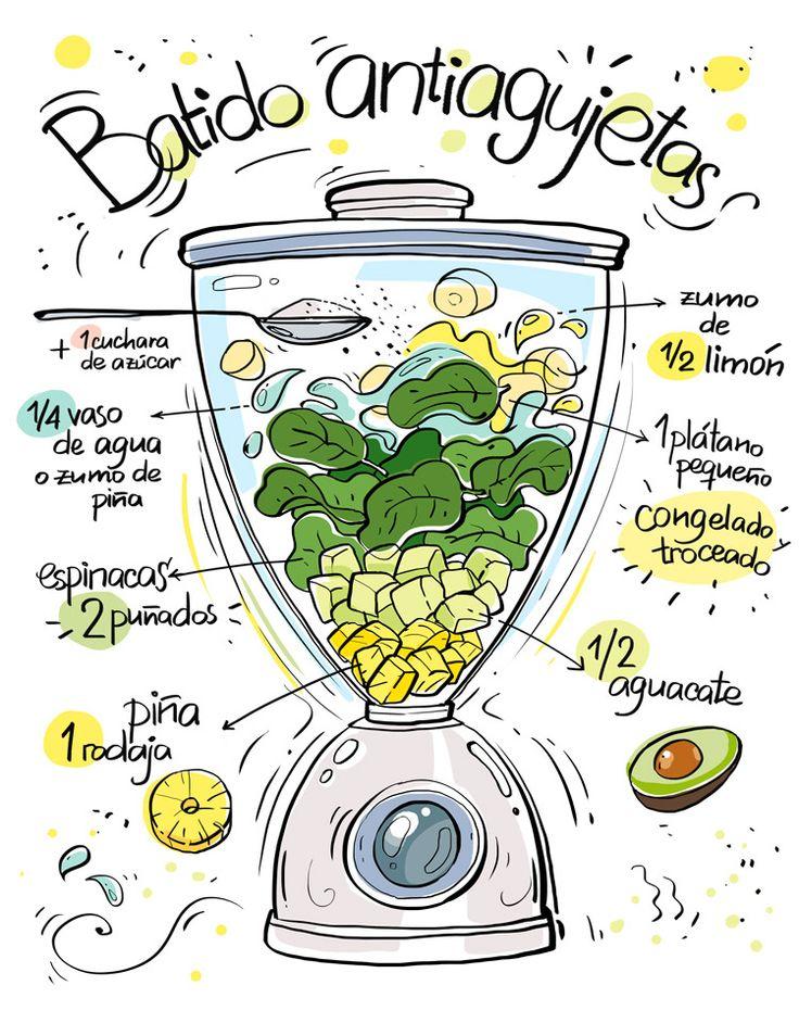 Restaurante Vegano Vegetariano Km.0 Donostia | Batidos ilustrados de Cartoon and Cooking