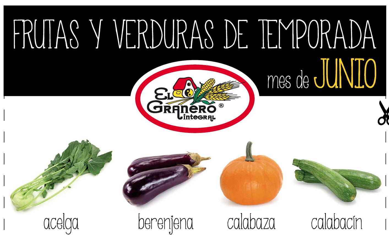 Calendario de frutas y verduras del mes de junio