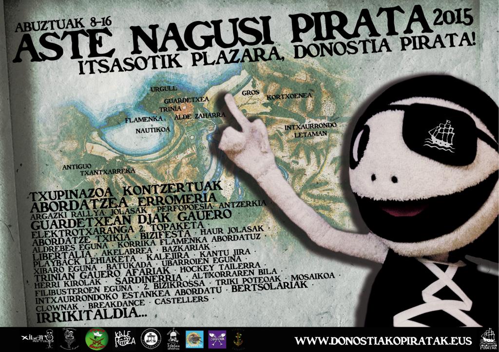 Aste Nagusi pirata Egitaraua 2015