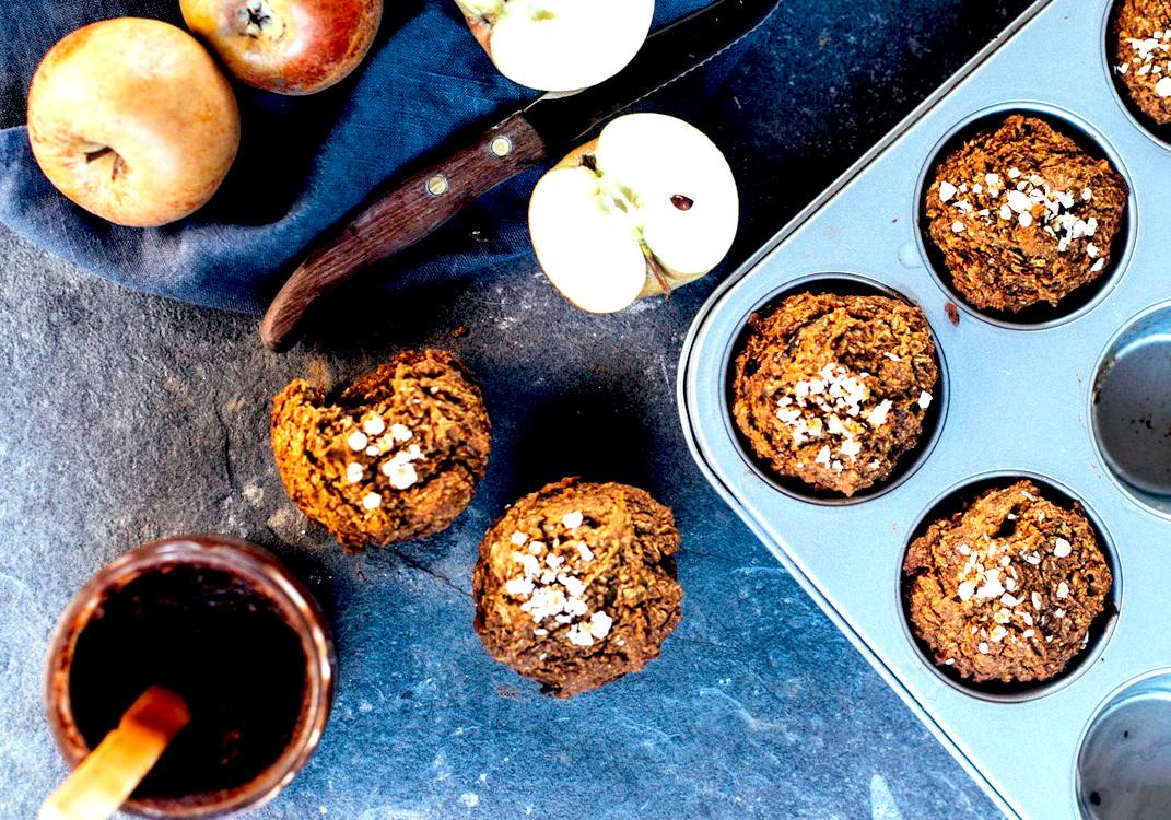 Recetas veganas Muffins de calabaza rellenos de chocolate