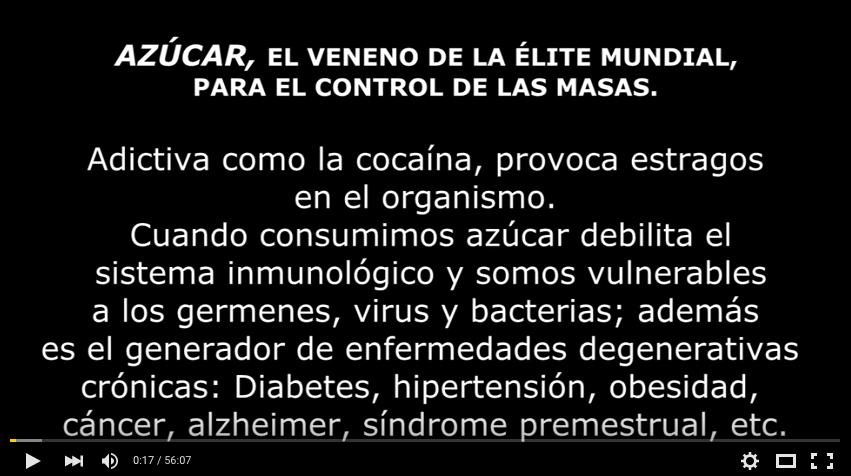 Azúcar, veneno de la élite mundial para controlar a las masas.