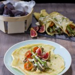 Las recetas de km.0: Crêpes veganos de espárragos, setas e higos de Delantal de Alces
