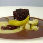 Las recetas de km.0: Crema de alubias rojas y berza con morcilla vegana