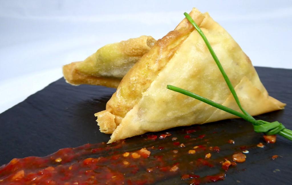 Recetas veganas Samosa Crujiente de verduras al curry