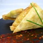Las recetas de km.0: Samosa crujiente de verduras al curry