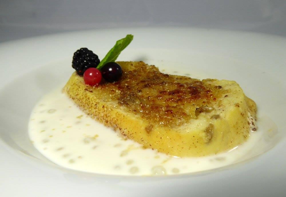 Recetas veganas torrija caramelizada con crema de coco y tapioca