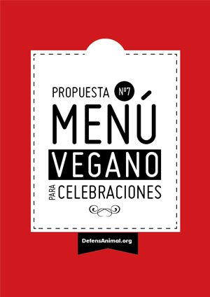Menú vegano para celebraciones
