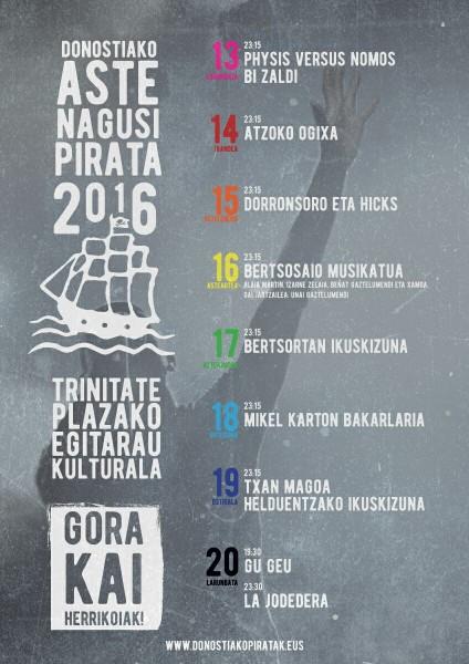Aste Nagusia Pirata La Trini egitaraua 2016