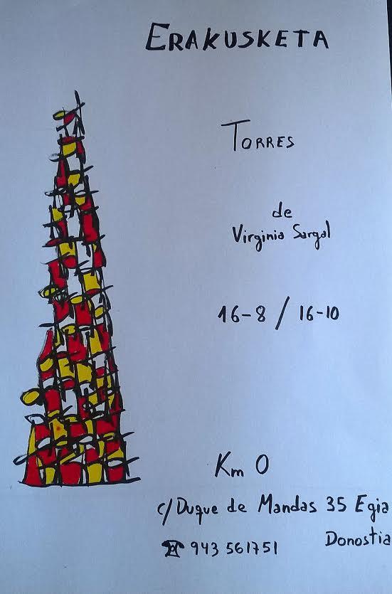"""Exposición de Arte en Km.0 """"Torres"""" por Virginia Sargal"""