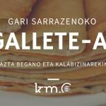 Las vídeo-recetas de Km.0: Gallete de trigo sarraceno con queso vegano y calabacín