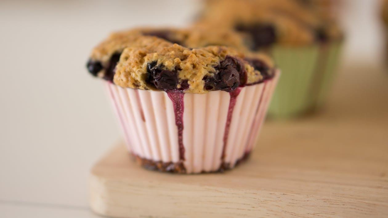 Recetas veganas Muffins de Chocolate y arándanos