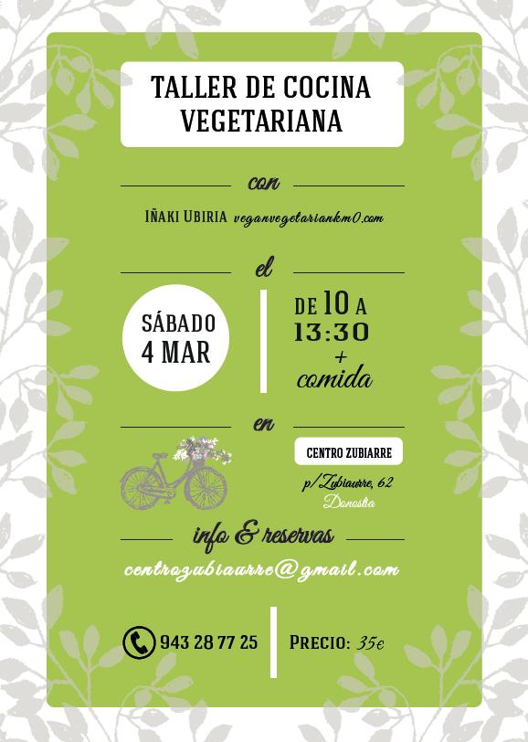 Taller de cocina vegetariana San Sebastián