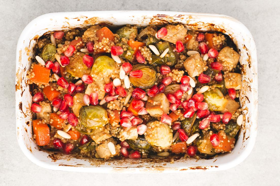 Recetas veganas con quinoa Asado festivo con quinoa by Danza de fogones