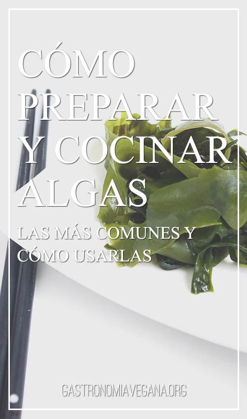 Cocinar con algas de la mano de GastronomiaVegana.org