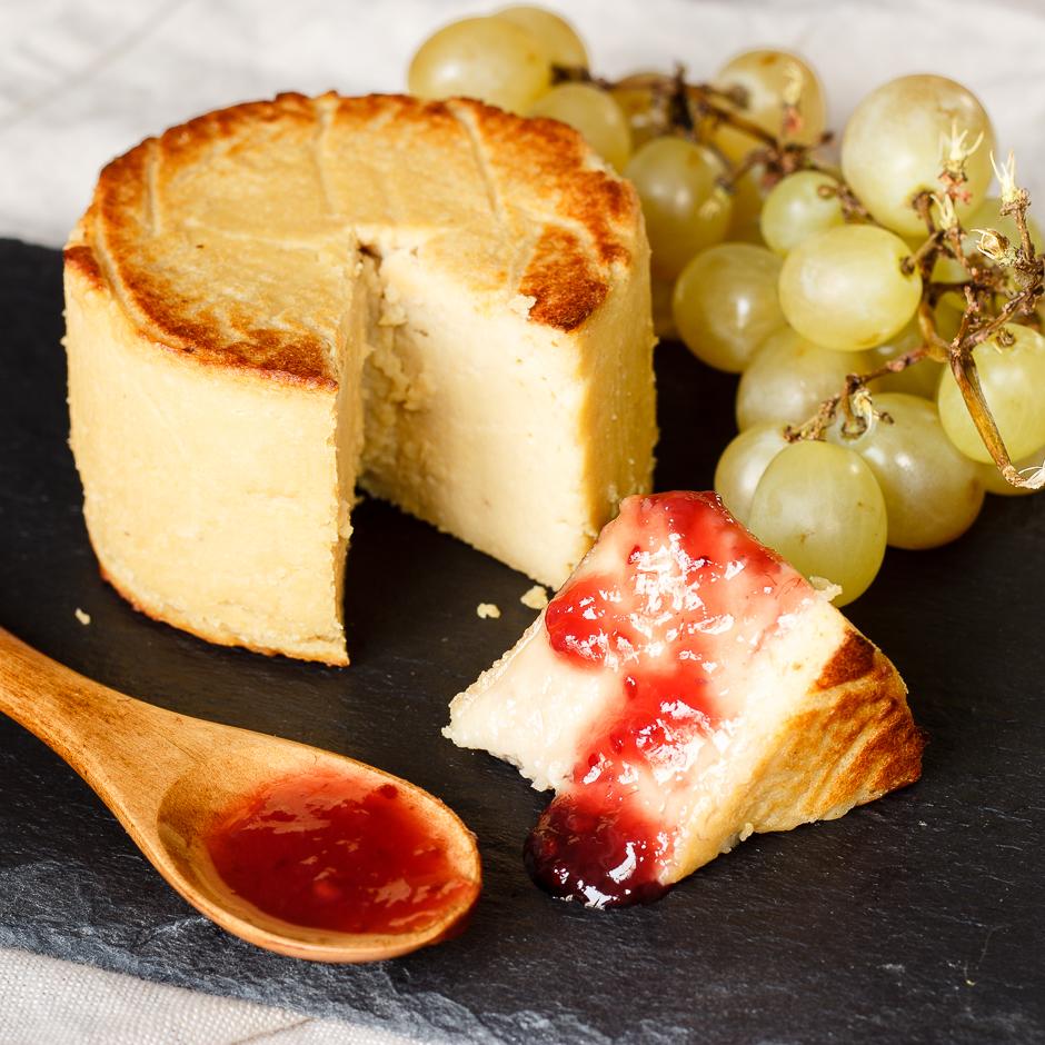 queso tempeh vegano de delantal de alces