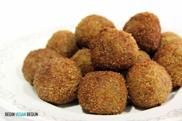 Croquetas veganas de lentejas rojas y kombu by Begin Vegan Begun
