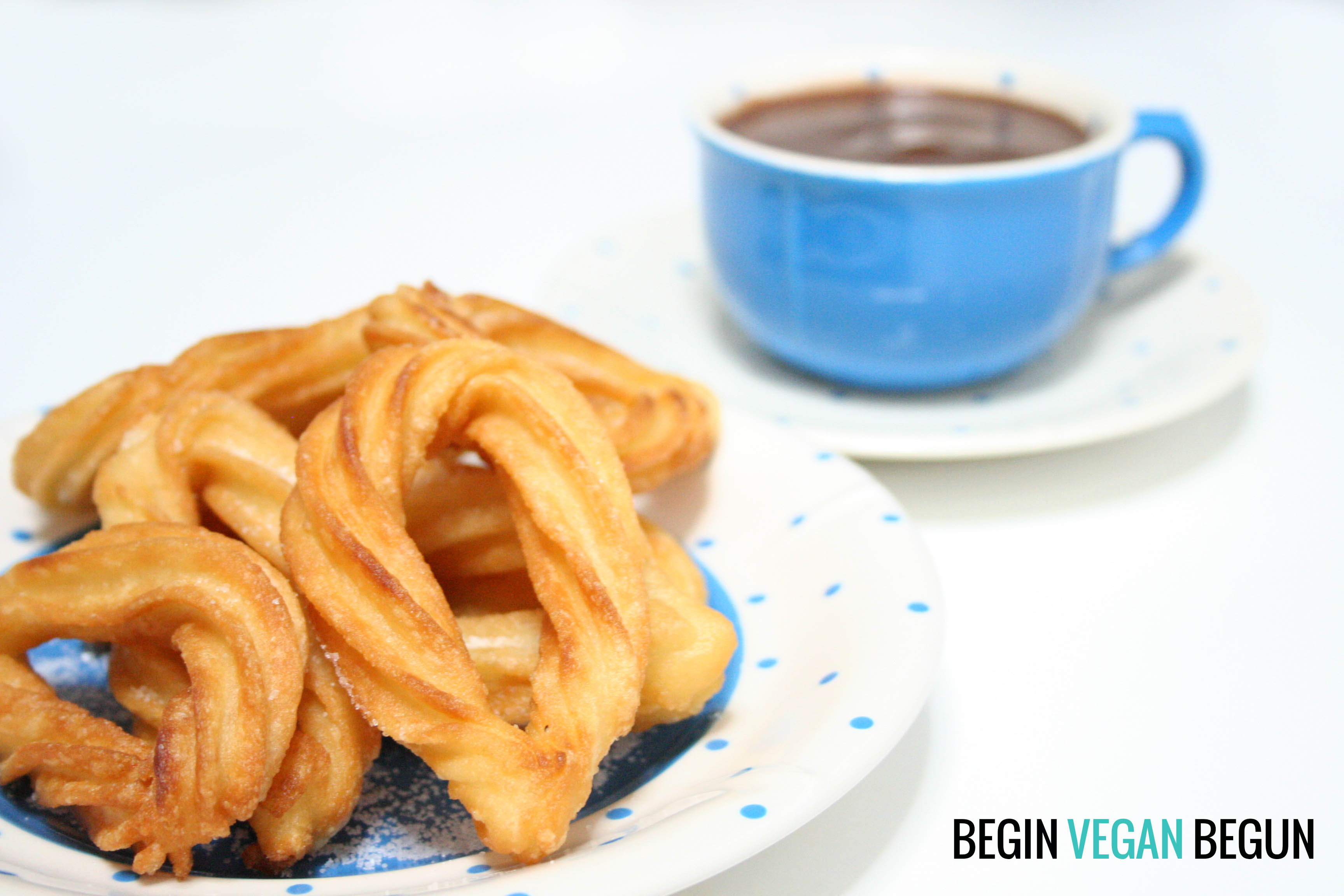Chocolate con churros veganos by Begin Vegan Begun