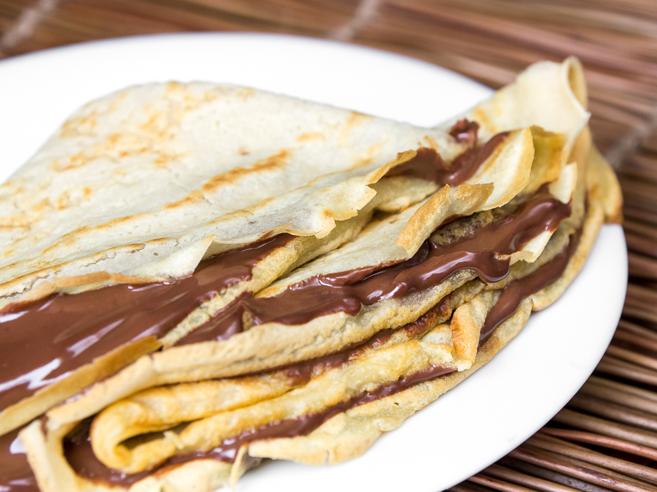 Crêpes veganos con crema de chocolate by Delantal de alces